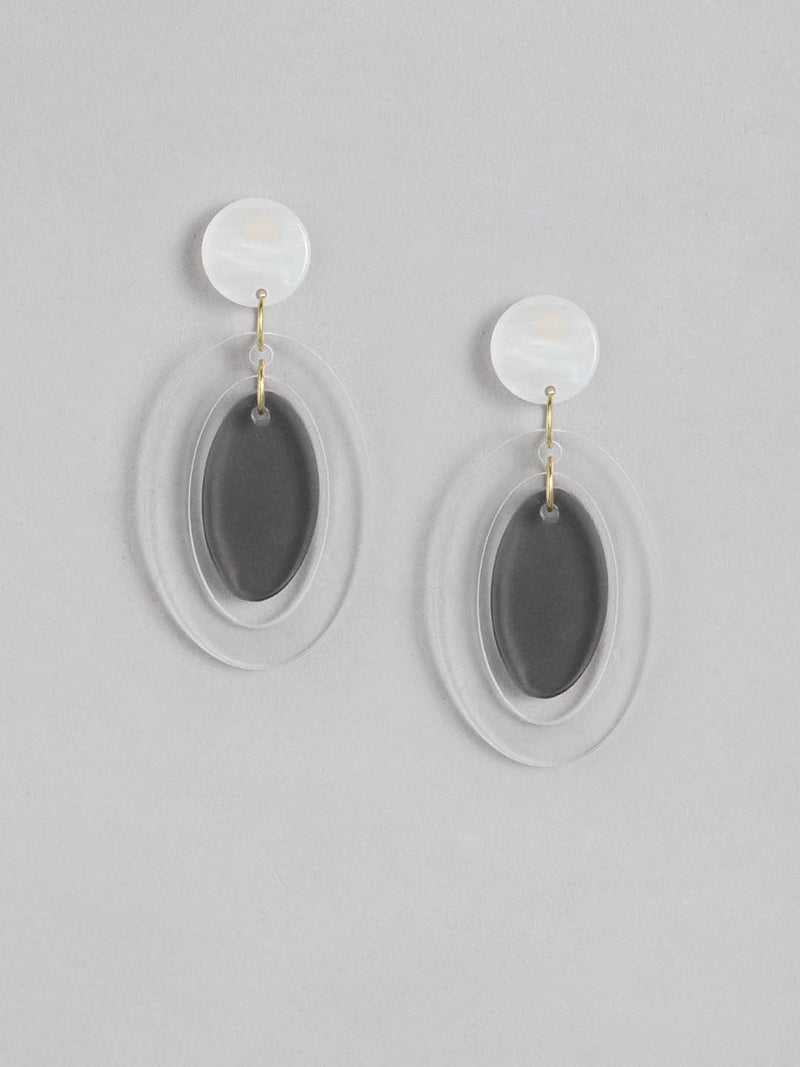 Clear Oval earring