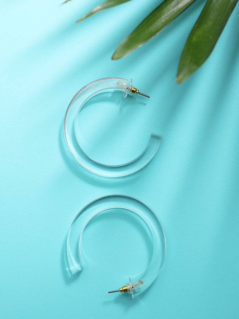 Clear Half Round small Hoop