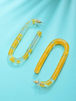 Yellow Abtract Hoop