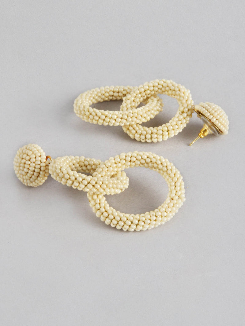 Two Ring Beaded Earring