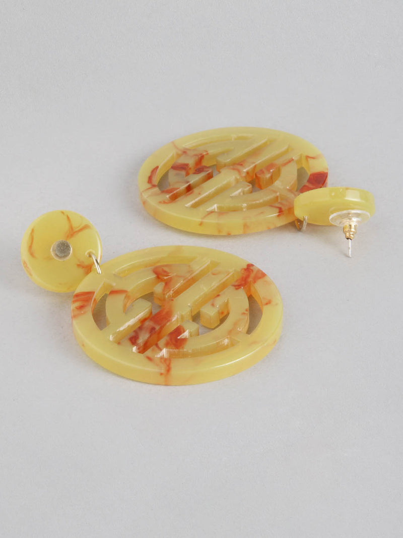 Fire Oriental Drop Earring