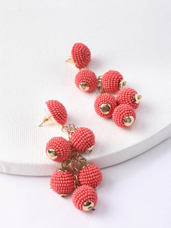 Pink Grape Earring