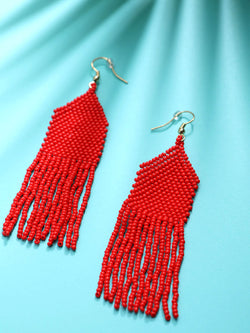 Red Fall Earring