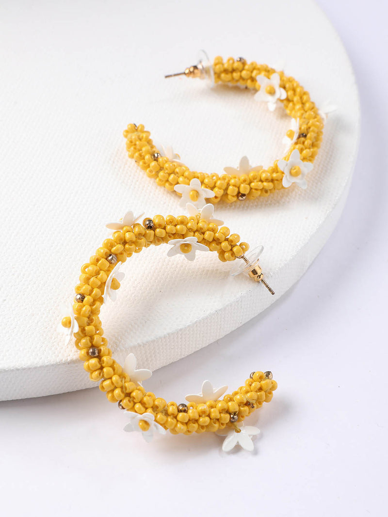 Yellow Flower Half Hoop