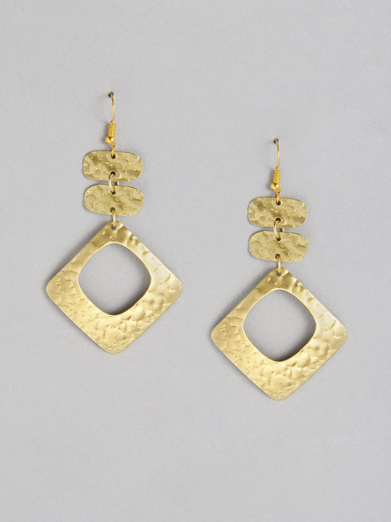 Diam Metal Drop Earring