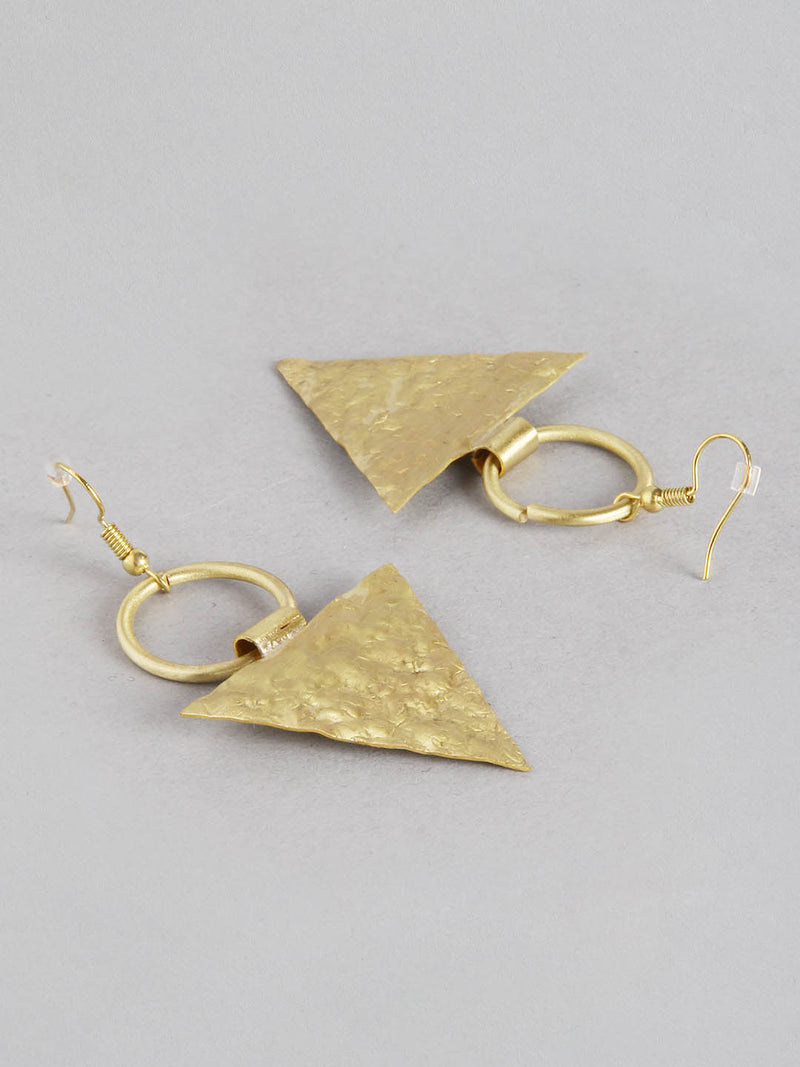 Round Triangle Metal Earring