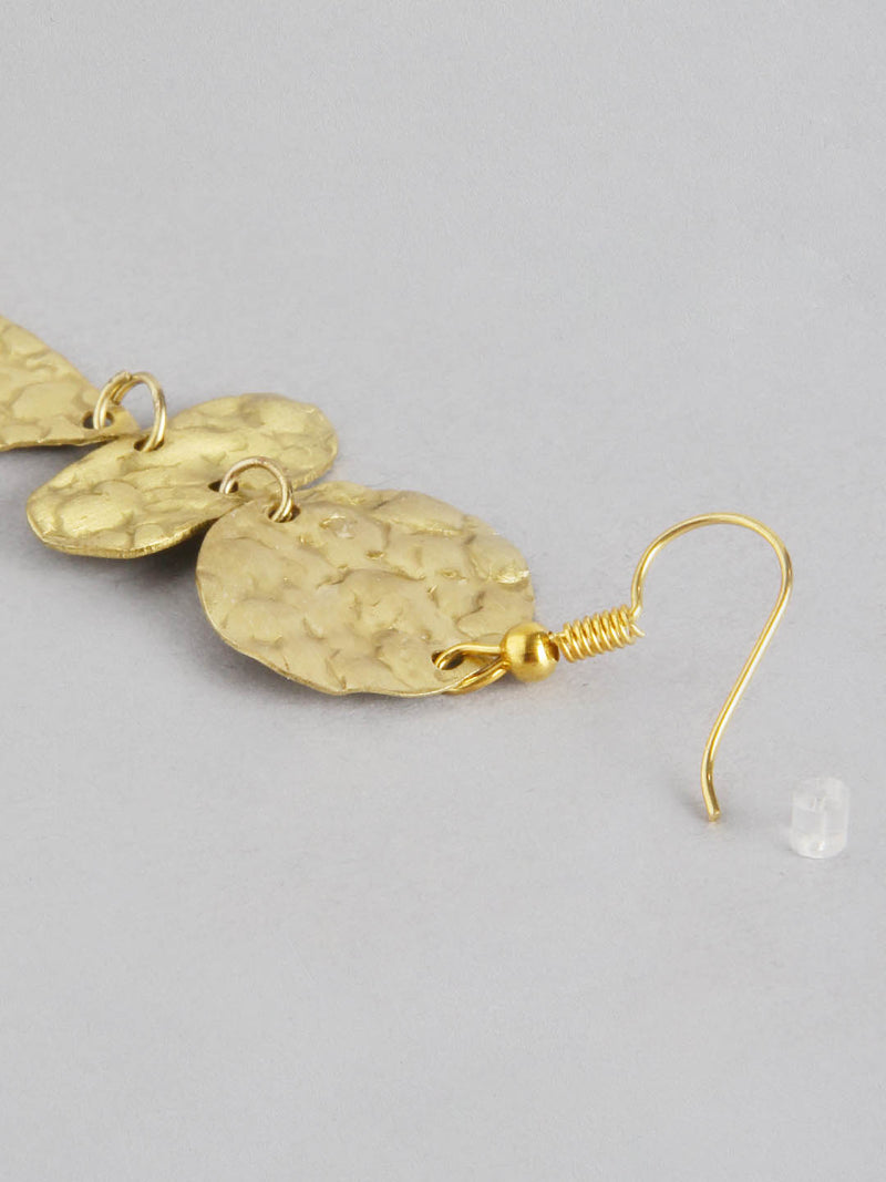 Gold Circle/Oval Metal Earring