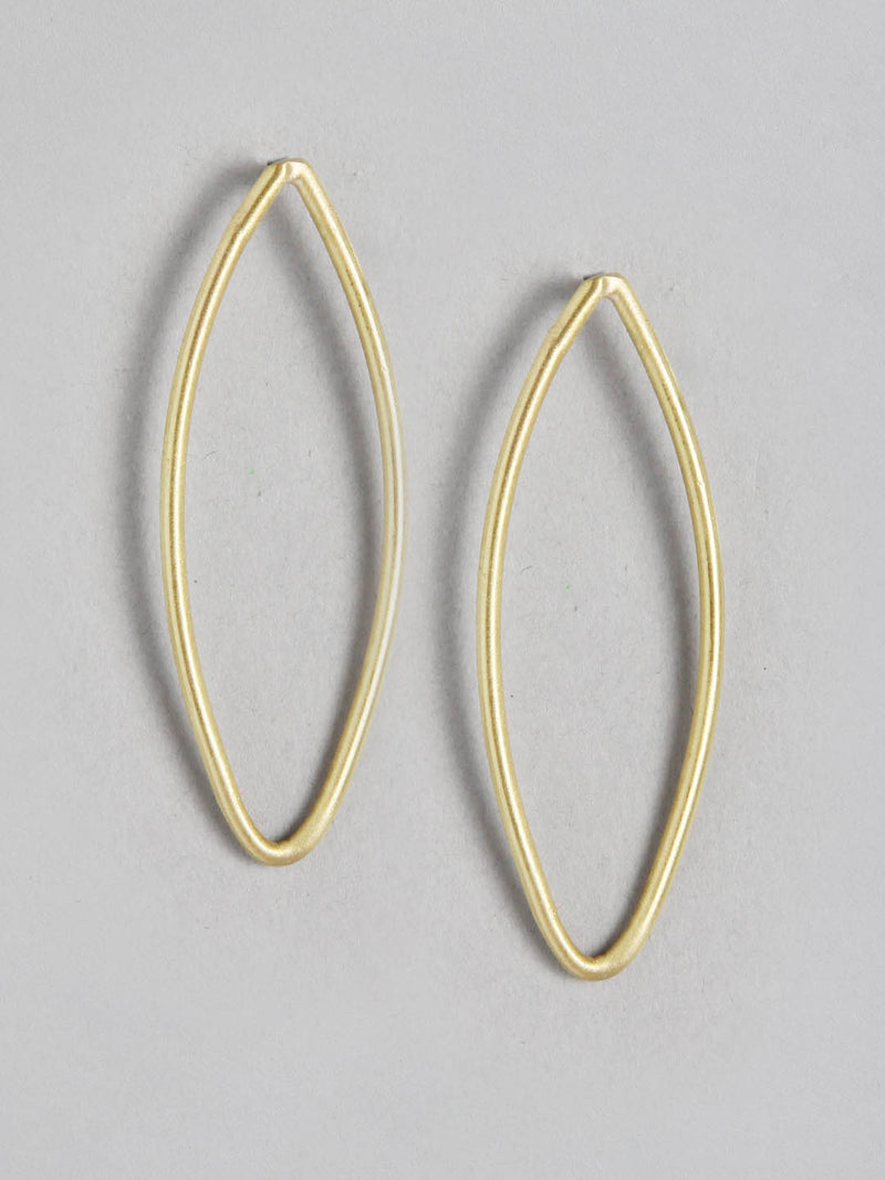 Small Oval Metal Earring