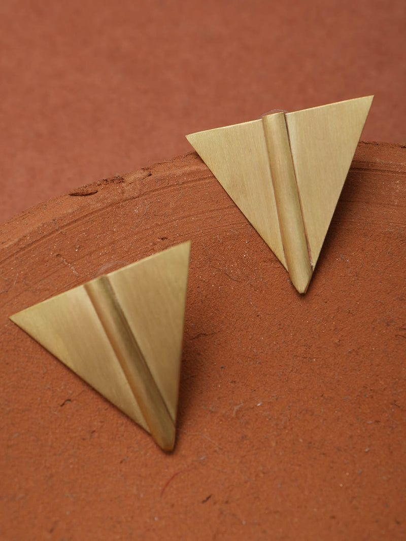 Triangular Earring Metal