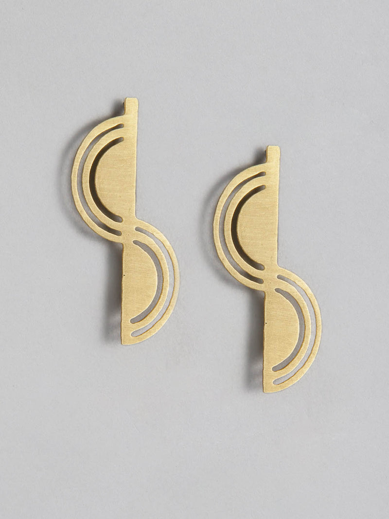 Line & Round Metal Earring
