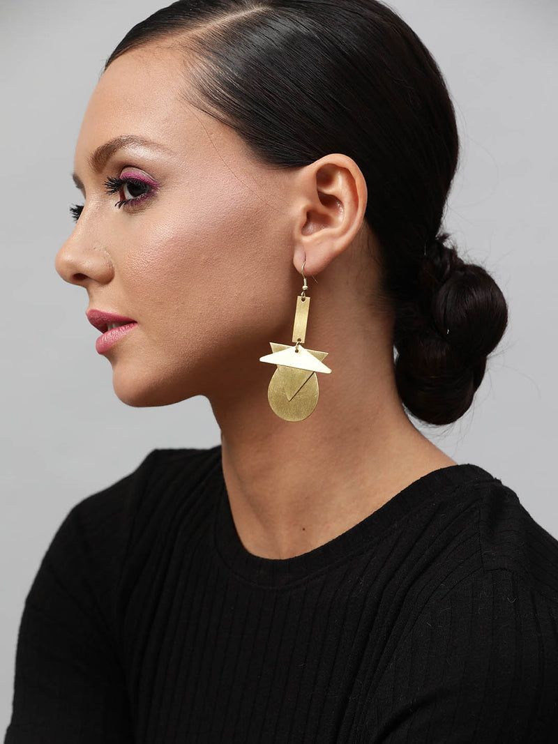 Tri Round Earring