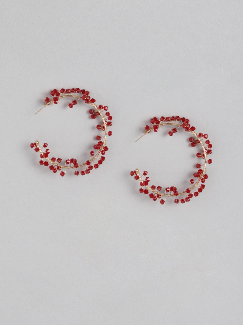 Ruby On a Wire Earring