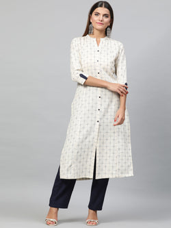 Yarn Dyed Kurta Set