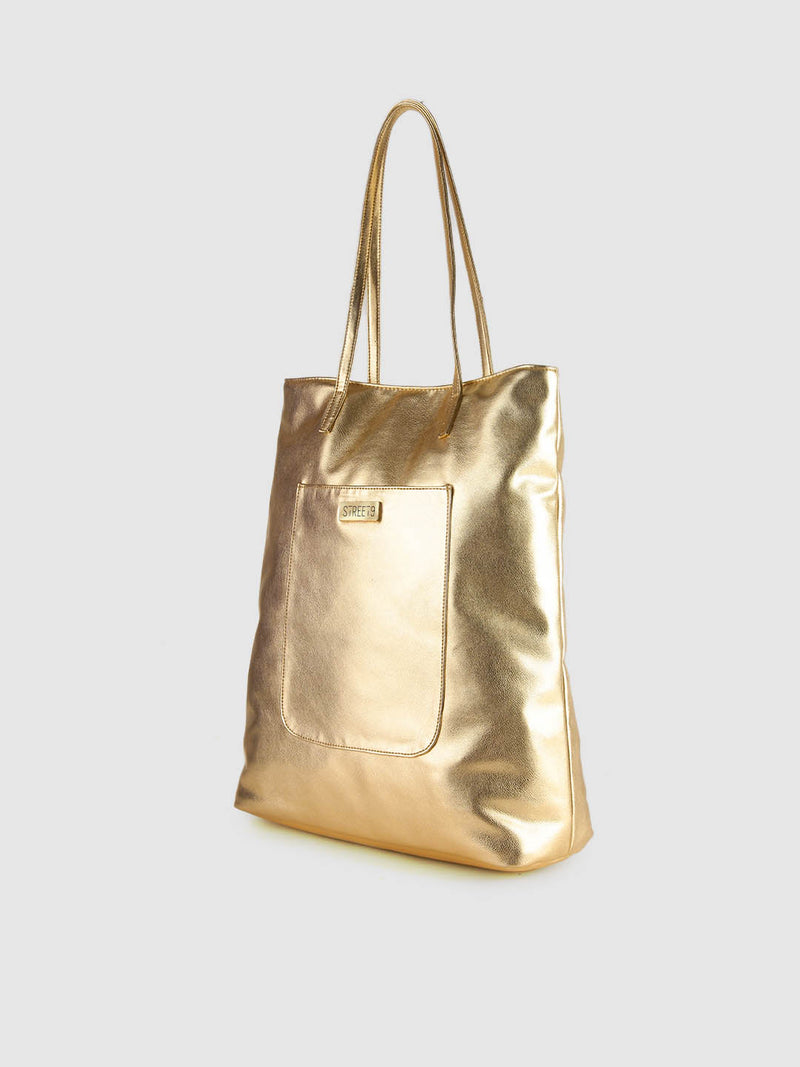 Gold Metallic Shopper Bag