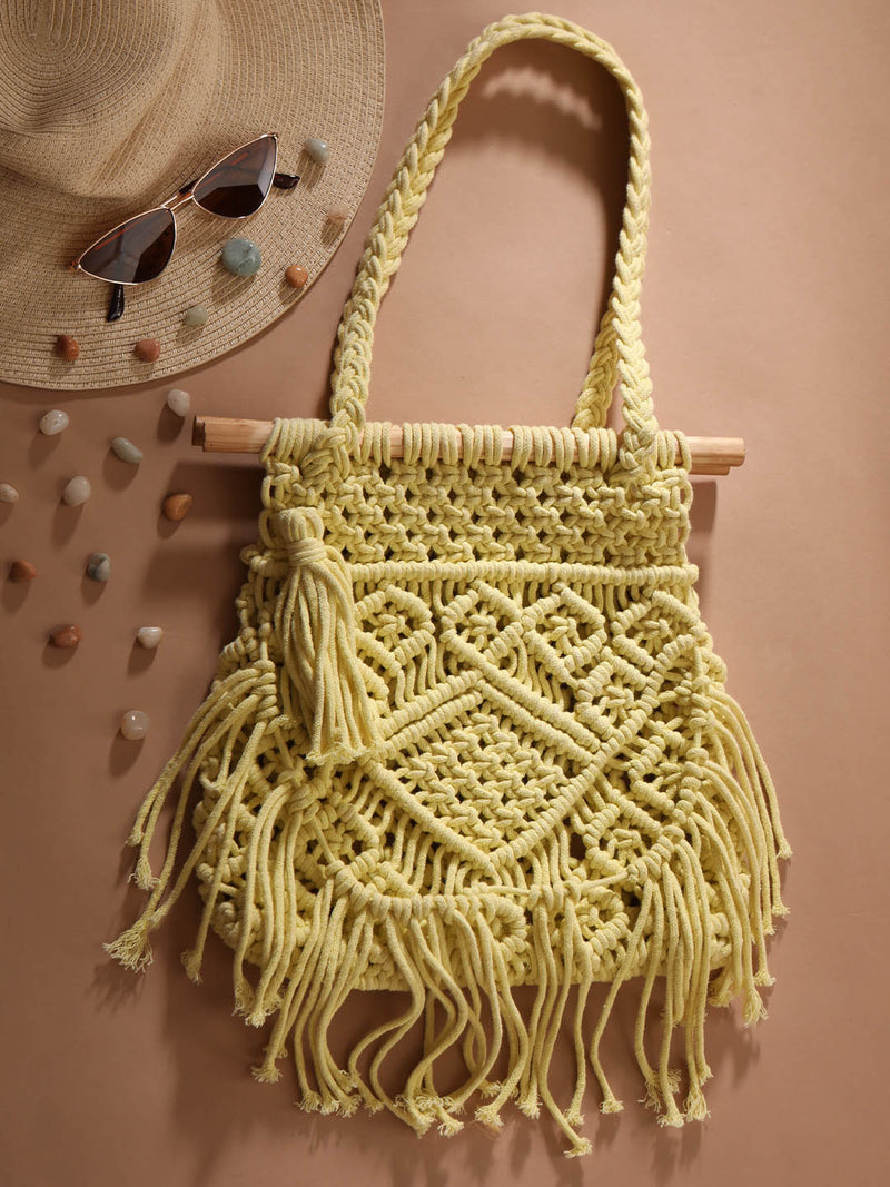 Lime Crochet Handbag