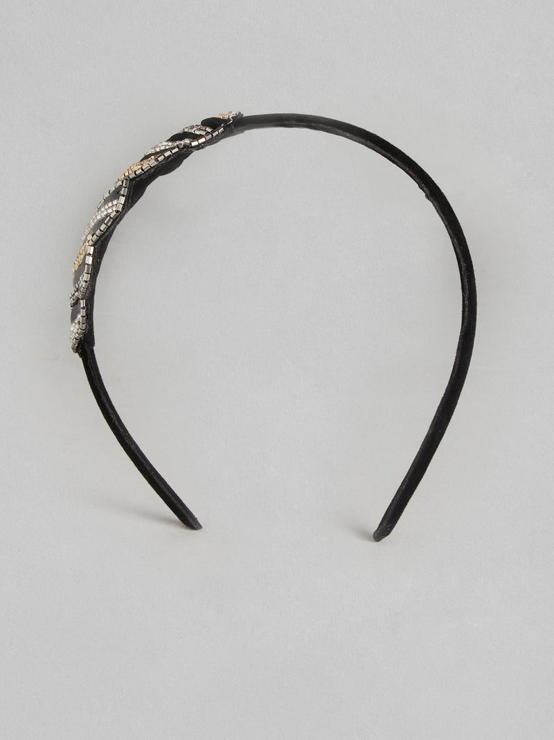 Embellished Stripe Statement Hairband