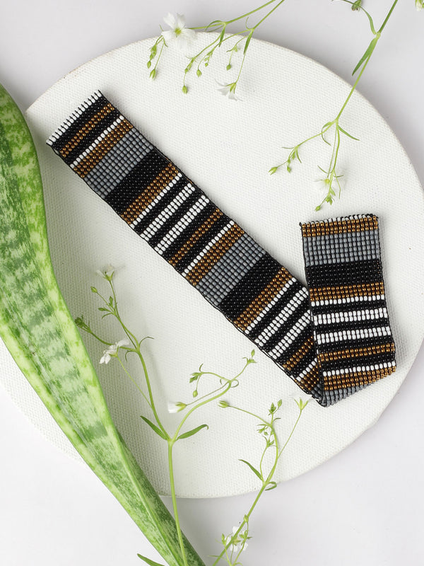 Beaded Striped Hairband