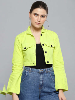 Crop Twill Jacket