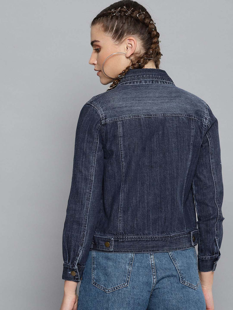 Denim Plain Jacket