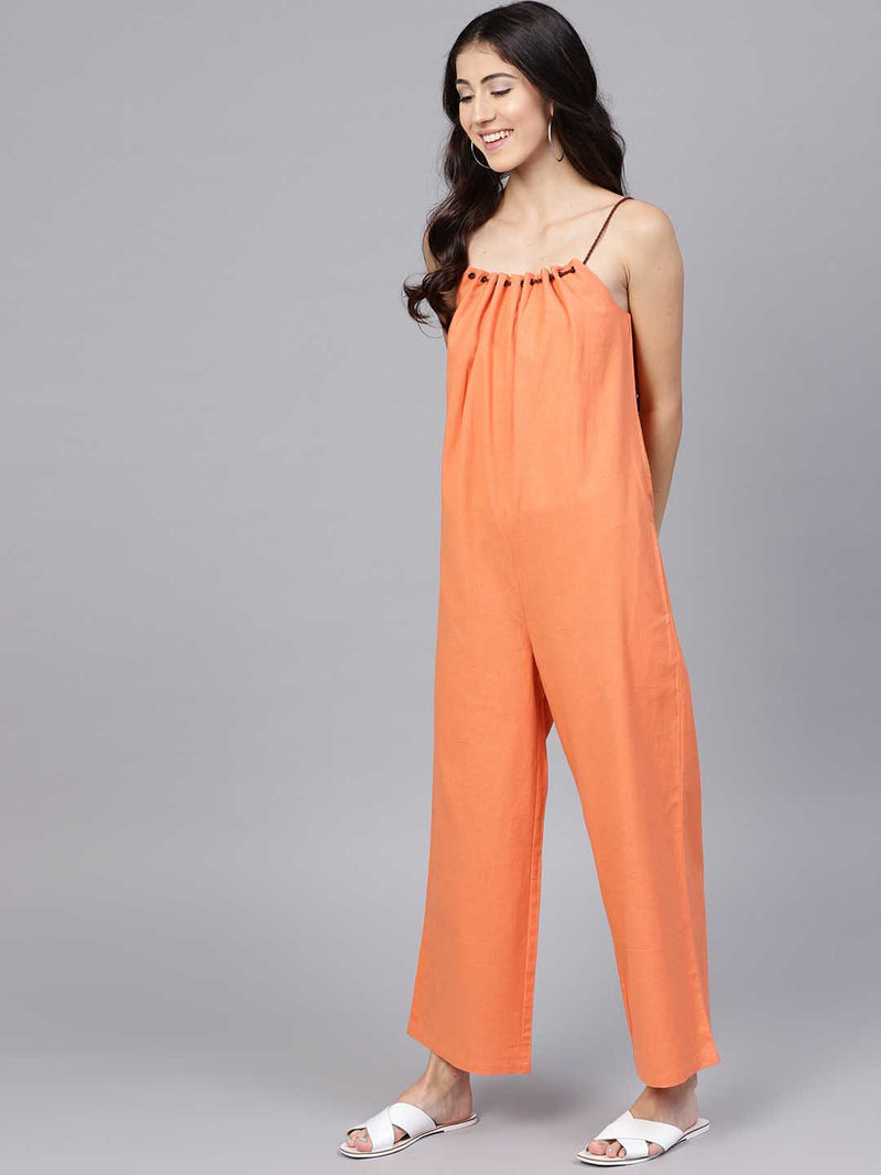 Flared Strape Jumpsuit