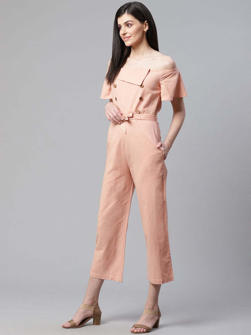 Drop Shoulder Jumsuit