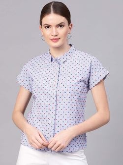 Swiss Dot Box Shirt
