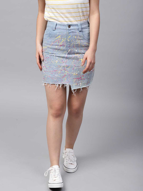 Paint Splash Mini Skirt