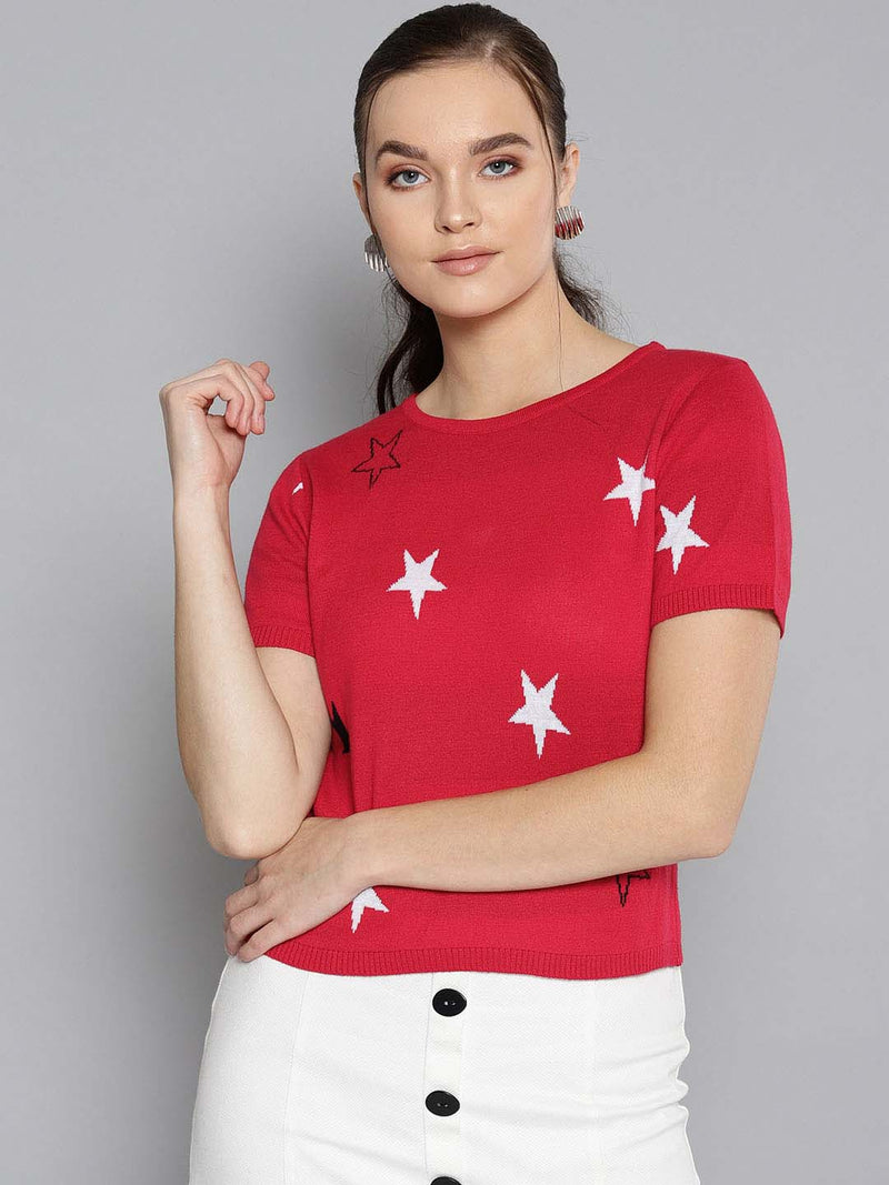 Colored Star Sweater