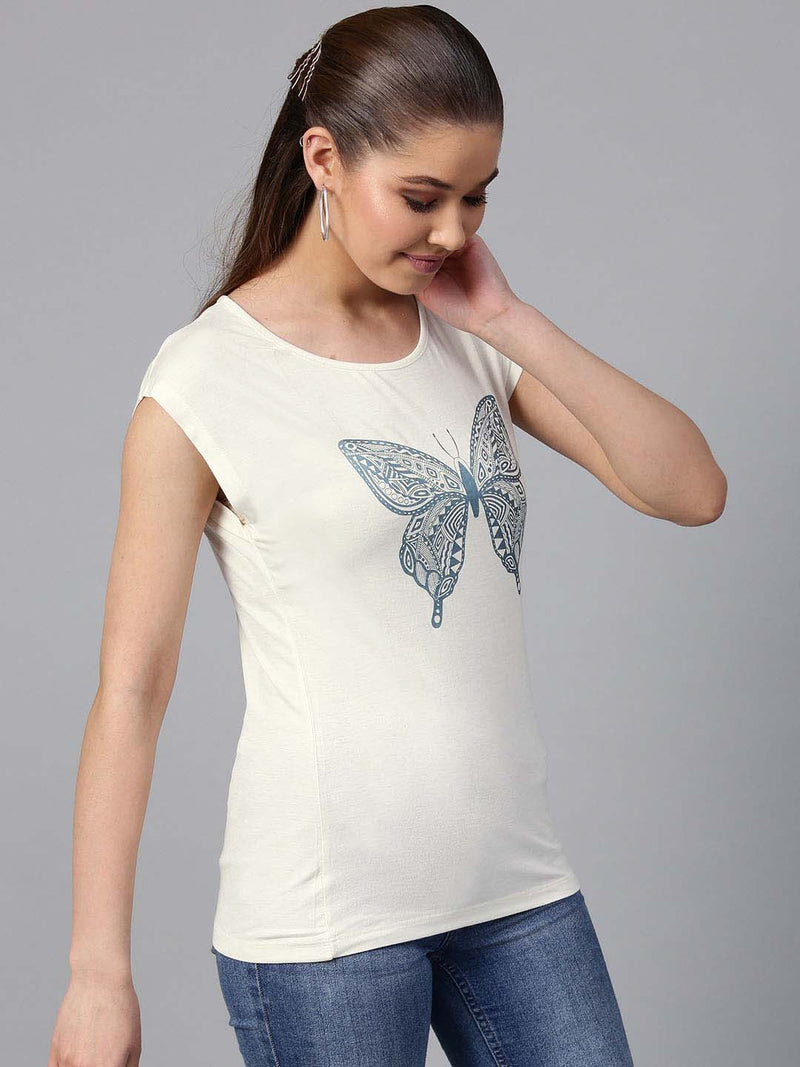 Butterfly Printed  Top