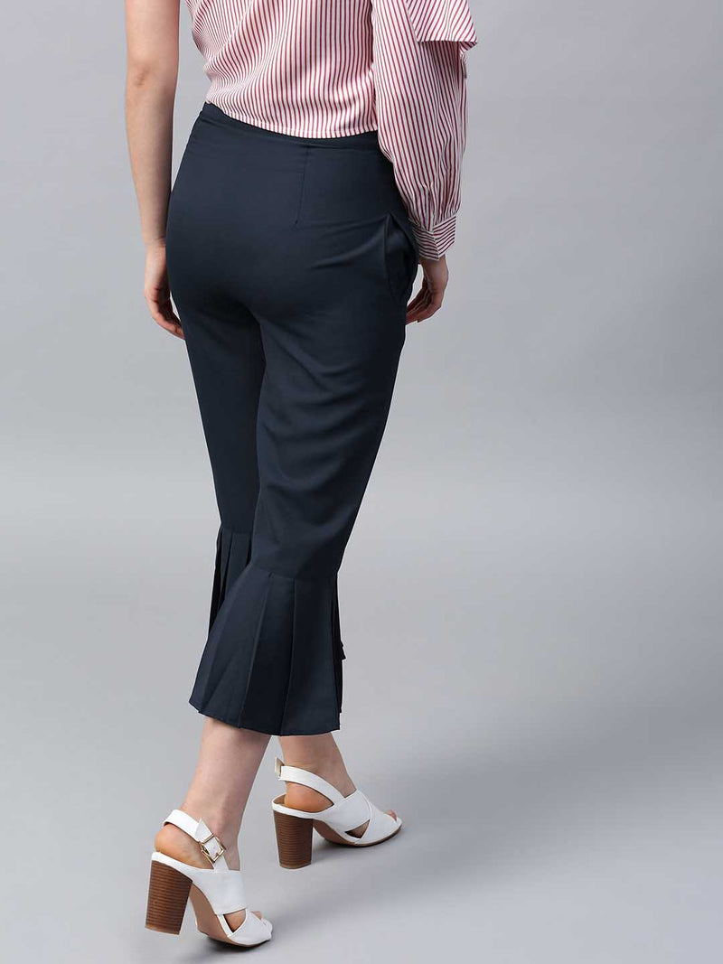 Pleated Flared Trouser