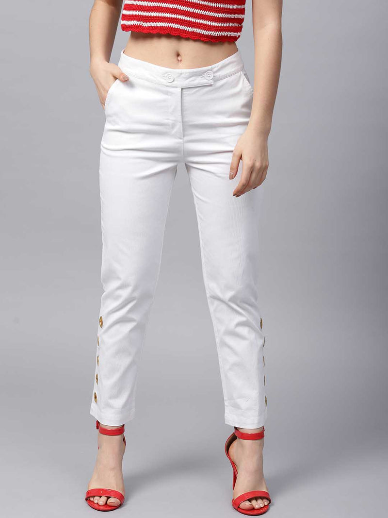 Fitted Eyelet Trouser