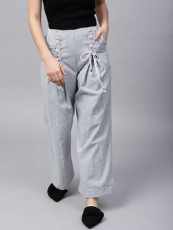 Invert Pleat Eyelet Trouser