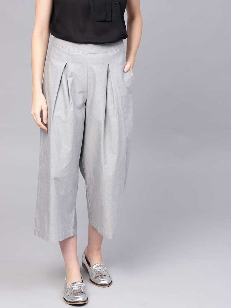 Box Pleated Trouser