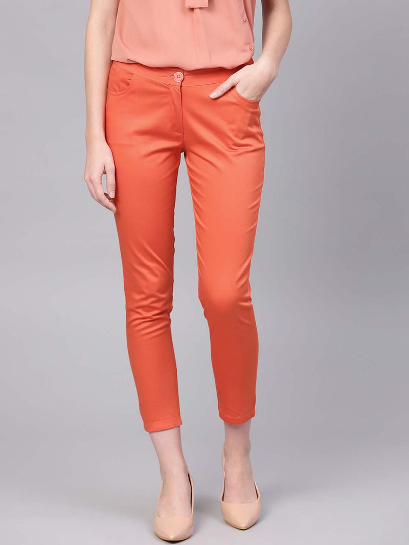 Fitted Satin Trouser
