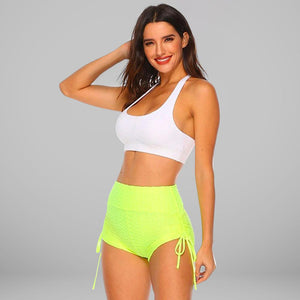 GYMKARTEL® ANTI-CELLULITE AND PUSH UP SHORTS - YELLOW