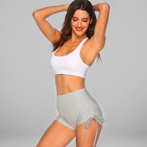 GYMKARTEL® ANTI-CELLULITE AND PUSH UP SHORTS - GRAY