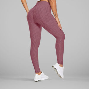 GYMKARTEL® ANTI-CELLULITE AND PUSH UP LEGGINGS - MAUVE