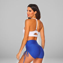 Load image into Gallery viewer, GYMKARTEL® ANTI-CELLULITE AND PUSH UP SHORTS - BLUE