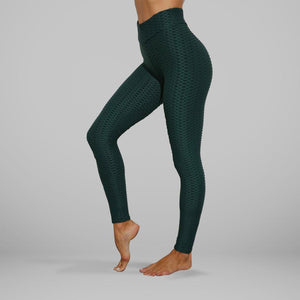 GYMKARTEL® ANTI-CELLULITE AND PUSH UP LEGGINGS - GREEN