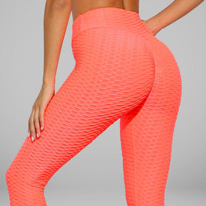 GYMKARTEL® ANTI-CELLULITE AND PUSH UP LEGGINGS - ORANGE