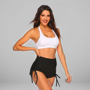 GYMKARTEL® ANTI-CELLULITE AND PUSH UP SHORTS - BLACK