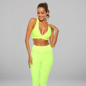 GYMKARTEL® SUPPORTIVE SPORTS BRA - YELLOW
