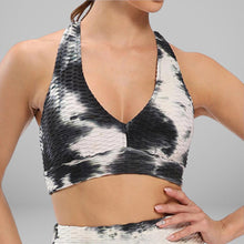 Load image into Gallery viewer, GYMKARTEL® SUPPORTIVE SPORTS BRA - TIE-DYE BLACK