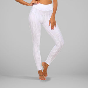 GYMKARTEL® ANTI-CELLULITE AND PUSH UP LEGGINGS - WHITE