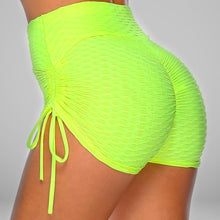Load image into Gallery viewer, GYMKARTEL® ANTI-CELLULITE AND PUSH UP SHORTS - YELLOW