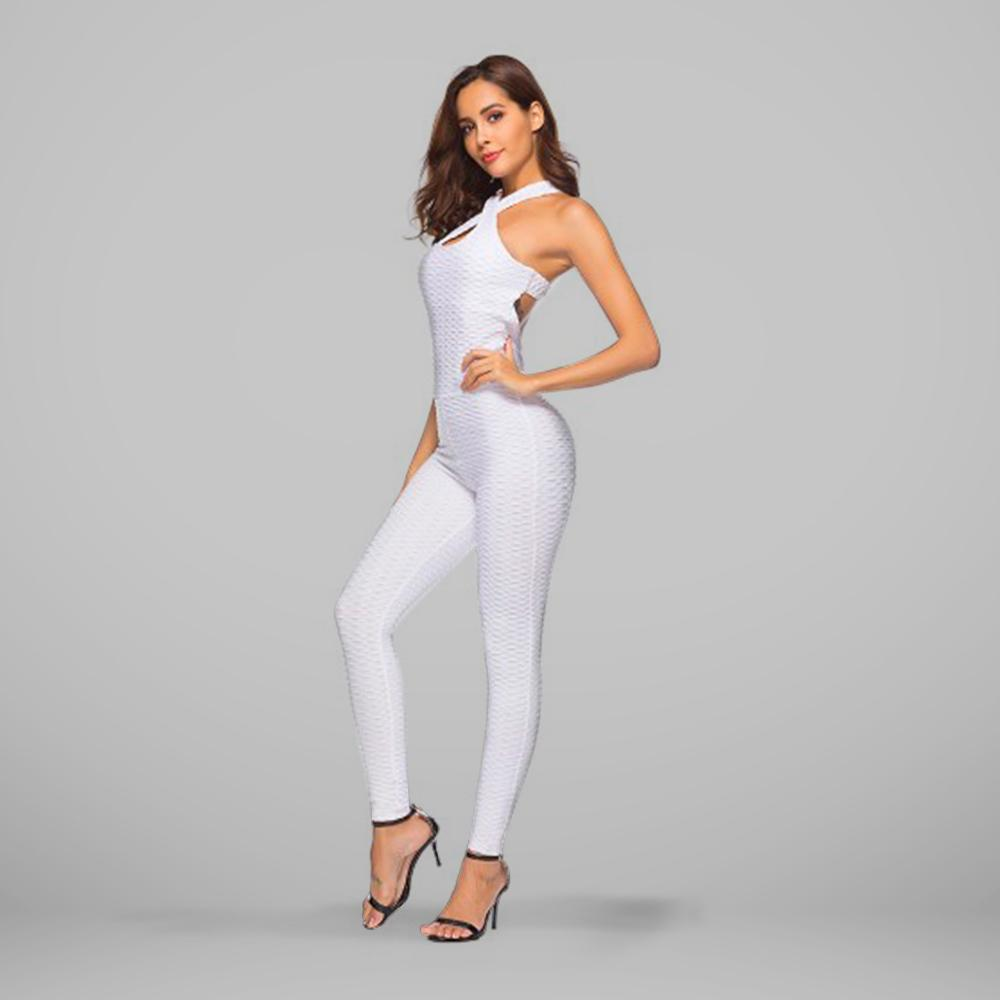 GYMKARTEL® ANTI-CELLULITE AND PUSH UP JUMPSUIT - WHITE