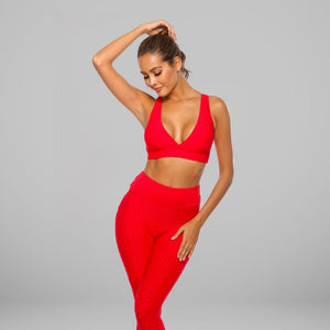 GYMKARTEL® SUPPORTIVE SPORTS BRA - RED