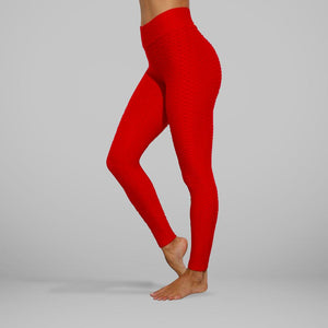 GYMKARTEL® ANTI-CELLULITE AND PUSH UP LEGGINGS - RED