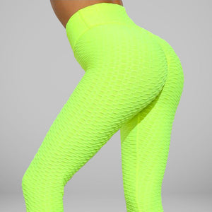GYMKARTEL® ANTI-CELLULITE AND PUSH UP LEGGINGS - YELLOW