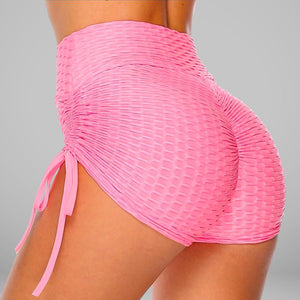 GYMKARTEL® ANTI-CELLULITE AND PUSH UP SHORTS - PINK